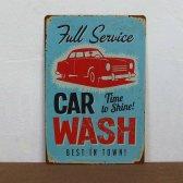 Retro plechová cedule 30x40 car wash