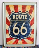 Retro plechová cedule 30x40 route 66