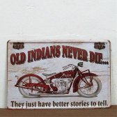 Retro plechová cedule 20x30 old indians....