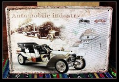 Retro plechová cedule 20x30 Automobile industry